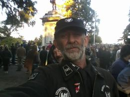 commnet- Thats Robs smiley face behind me He stood beside me at dawn Parade . Next year im going to do a Wreath.