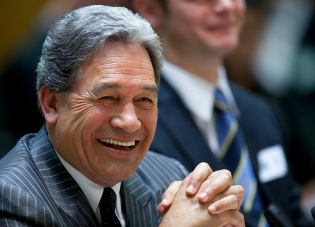 Winston Peters speaks at a Maori Affairs select committee